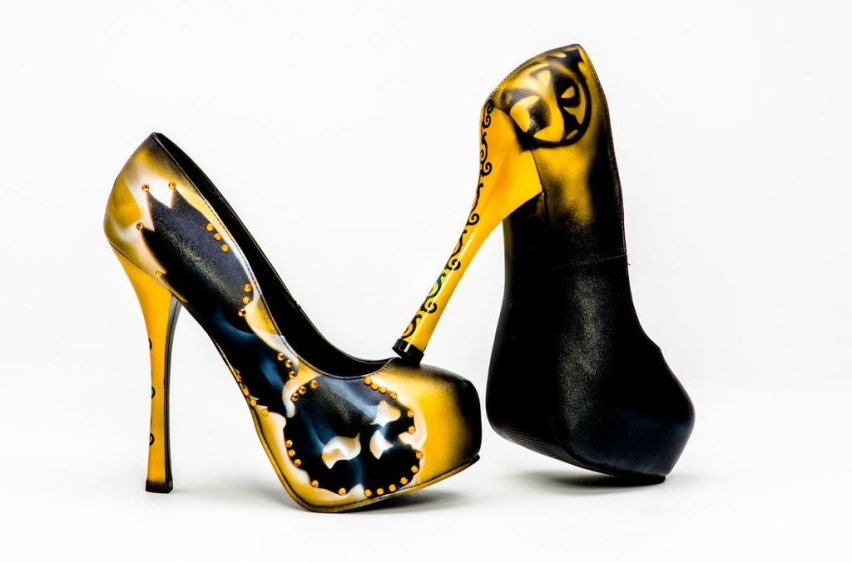 Cherie Johnson Gold Shoes