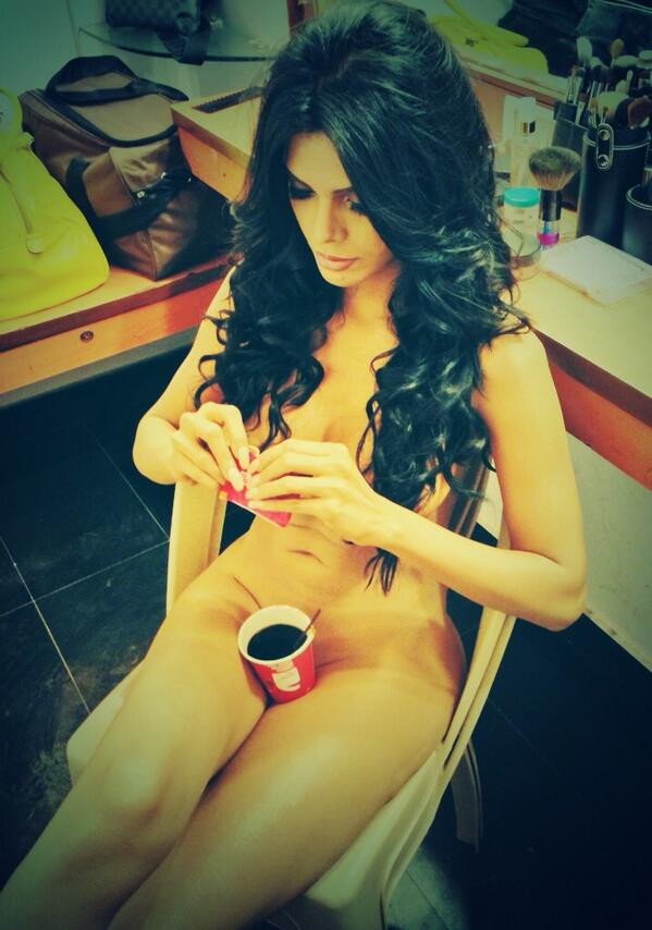 Sherlyn Chopra Coffee Cup