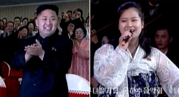 Hyon Song-wol, right, was reportedly put to death by her ex-boyfriend Kim Jong Un, left, on August 30
