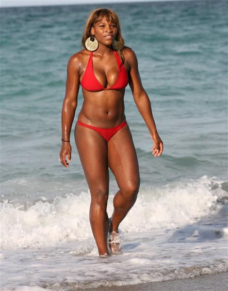 Serena Williams In Bikini Birthday
